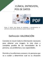 Historia clínica, entrevista y tipos de datos