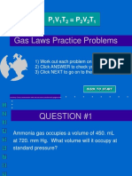 Practice Problems for the Gas Laws