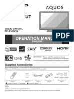 Sharp Aquos 40-Inch HDTV LCD User Manual