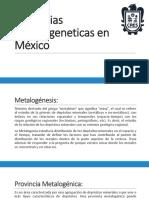 Provincias Metalogeneticas en México