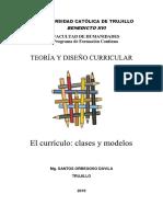 TEORÍA Y DISEÑO CURRICULAR MODULO 1