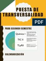 Propuesta de Transversalidad 1er parcial