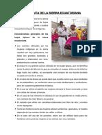 VESTIMENTA DE LA SIERRA ECUATORIANA