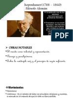 Arthur Schopenhauer(1788 – 1860) Filósofo.pptx