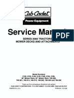 Cub Cadet 2000 Series Service Repair Manual