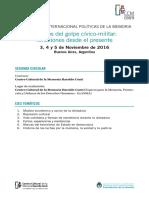 IX seminario Internacional Políticas de la Memoria-2da-circular-2016