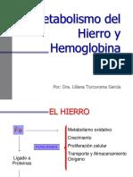 Ferro, Hemoglobina e Bilirrubina - 23472 v octubre 2013 (1)-2.ppt