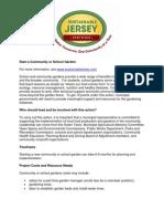 Start a Community or School Garden - Sustainable Jersey