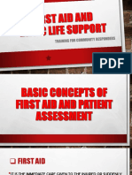 FIRST AID AND BLS