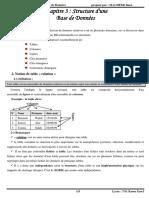3-Structure base de données