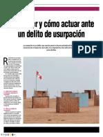 Delito de Usurpación - Autor José María Pacori Cari