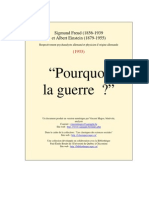 Pourquoi La Guerre. Correspondance entre Freud et Einstein. 1933