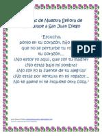 Palabras de Nuestra Señora de Guadalupe a San Juan Diego