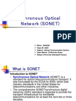 Synchronous Optical Network (SONET) by Abdullah