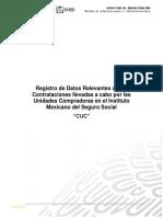 Guía para la Homologación del Registro de  Datos Relevantes de las Contrataciones llevadas a cabo por las Unidades