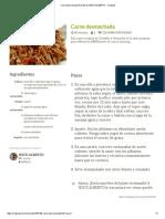 Carne desmechada Receta de JESÚS ALBERTO - Cookpad