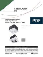 U-MATCH 16SEER IOM CASSETTE (2019)MS-SVX061A-EM_03062019 (1)
