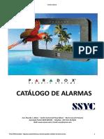 Catalogo de Alarmas SSYC