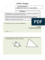 Similar Triangles worksheet beta