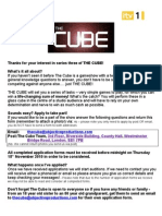 The Cube Application Form Series 3