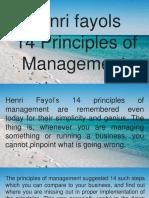 HENRI FAYOL'S 14 MANAGEMENT PRINCIPLES
