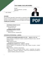 MARTHA YSABEL SUCLUPE NUÑEZ - CV