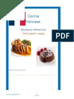 Recetarío de Cocina Francesa 2018