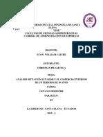 Análisis Del Desarrollo Del Comercio Exterior de Ecuador de Los Últimos 10 Años