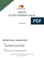 MATERI SISTEM JAMINAN HALAL