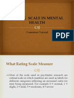 Rating Scale in Mental Health