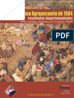 Censo 1984 Agropecuario Departamentales