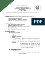 MTB Lessson Plan 4