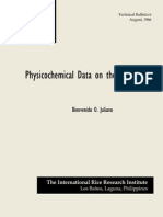 Physiocochemical Data on the Rice Grain (TB6)