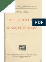 MICA 2 Ioan G. Coman_Tristetea Po...a Sf. Grigorie de Nazianz