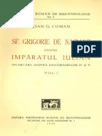 Ioan G. Coman_Sf Grigorie de Nazianz Despre Imparatul Iulian