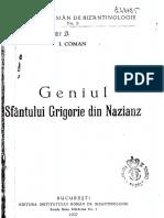 Geniul Sf Grigorie de Nazianz