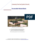 Building Accessible Raised Beds Gardens for Handicaped People, Seniors and Others