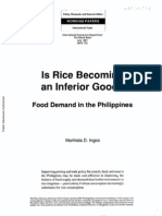 Is Rice Becoming an Inferior Good Food Demand in the Philippines