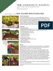 Building Wheelchair Accessible Raised Garden Beds - DOWLING COMMUNITY GARDEN