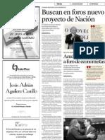 30-11-10 Buscan foros nuevo proyecto de Nación