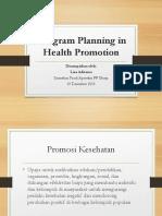 Merancang Promosi Kesehatan