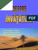 DESPRE INVATATURA
