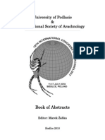 Book of Abstracts - 18th International Congress of Arachnology 2010