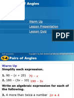 1-4Pairs of Angles