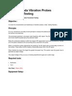 vibration sensor testing