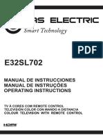 Manual de usuario de Smart tv E32SL702