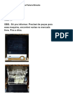Manual da Lava Louça Futura Enxuta