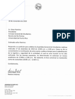 Carta de Rechazo del Receso Académico