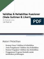 HO Teori dan Praktek Validitas & Reliabilitas Instrumen-EQ