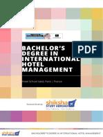 Bachelors Degree in International Hotel Management Hotel School Vatel